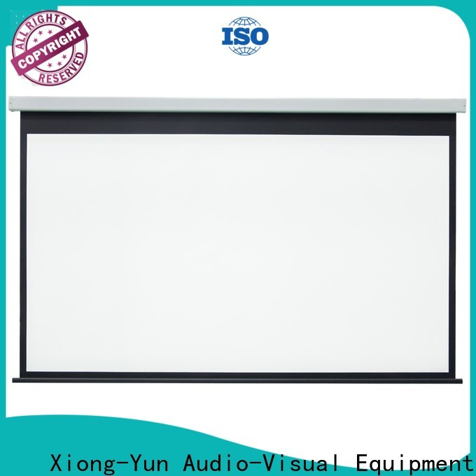 XY Screens curved Motorized Projection Screen personalized for indoors