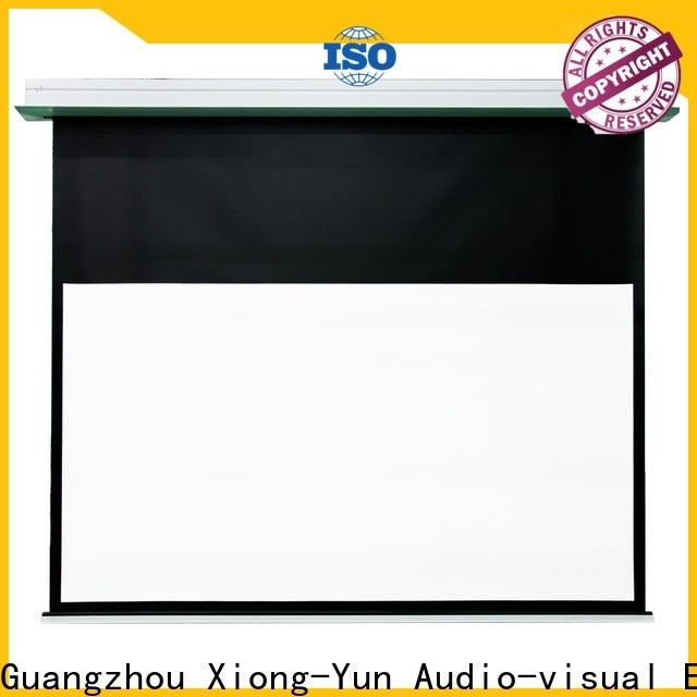 electric theater projector screen design for indoors