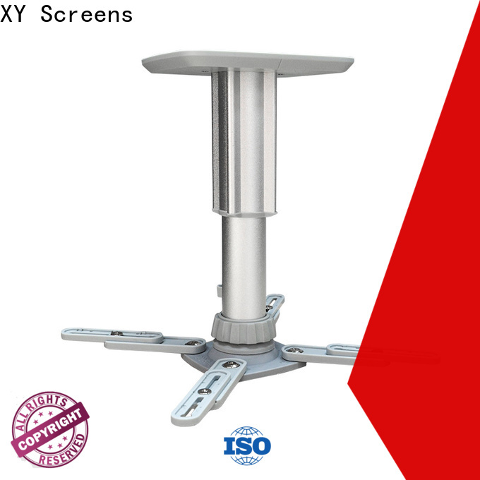 XY Screens ceiling projector mount customized for computer