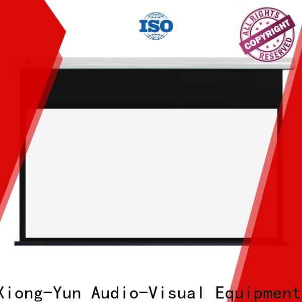 XY Screens curved electric projector screen personalized for indoors