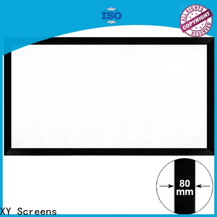 slim home theater projector screen supplier for meeting room
