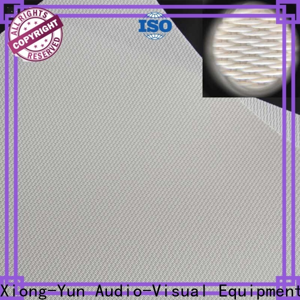 XY Screens acoustic absorbing fabric manufacturer for motorized projection screen