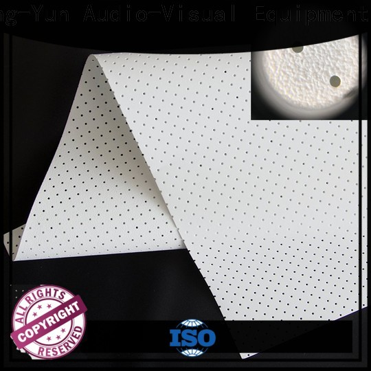 XY Screens perforating acoustic absorbing fabric customized for thin frame projector screen