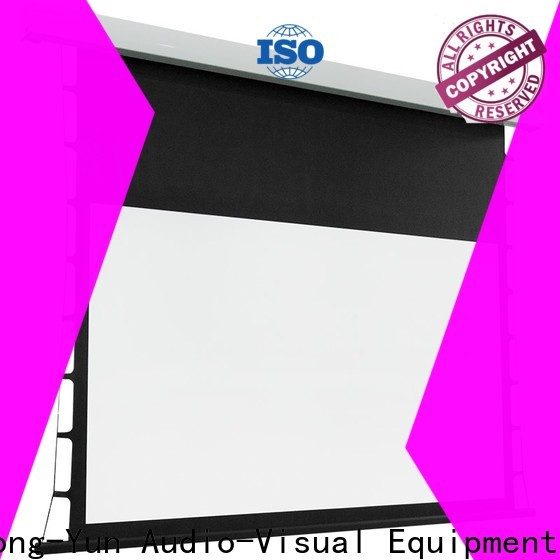 light rejecting tab tensioned projector screen factory price for home