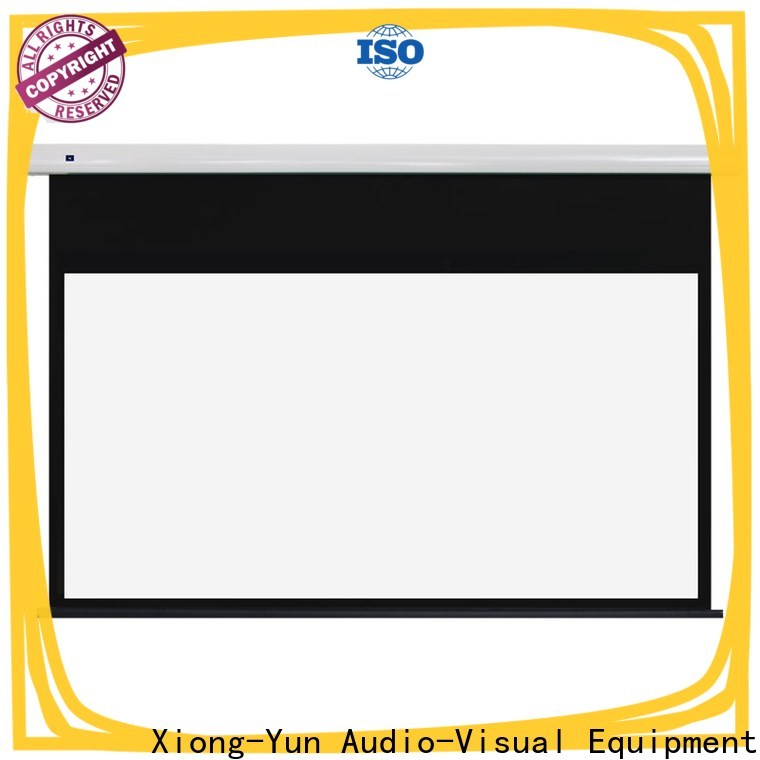 intelligent Motorized Projection Screen with good price for household