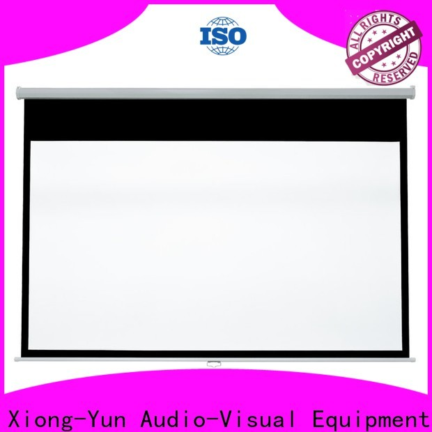XY Screens sturdy pull down projector screen factory for school
