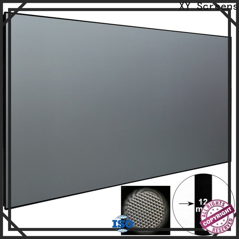 thin ultra short throw projector screen series for movies