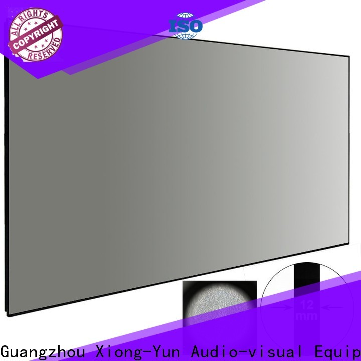 XY Screens ambient light projector personalized for living room
