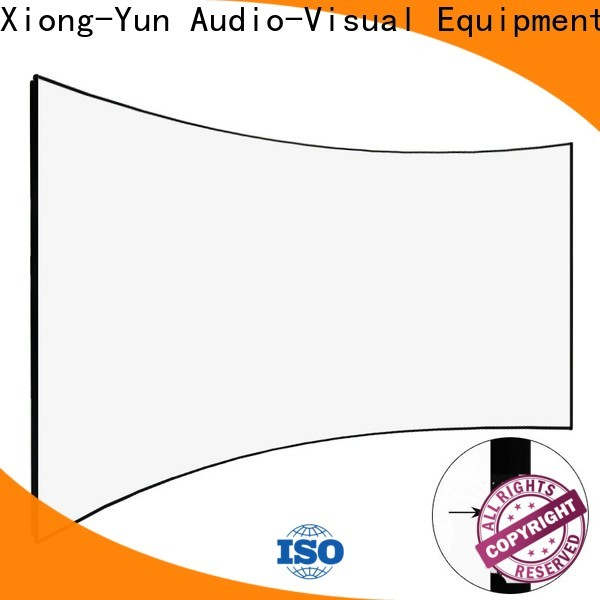 XY Screens Home Entertainment Curved Projector Screens supplier for household