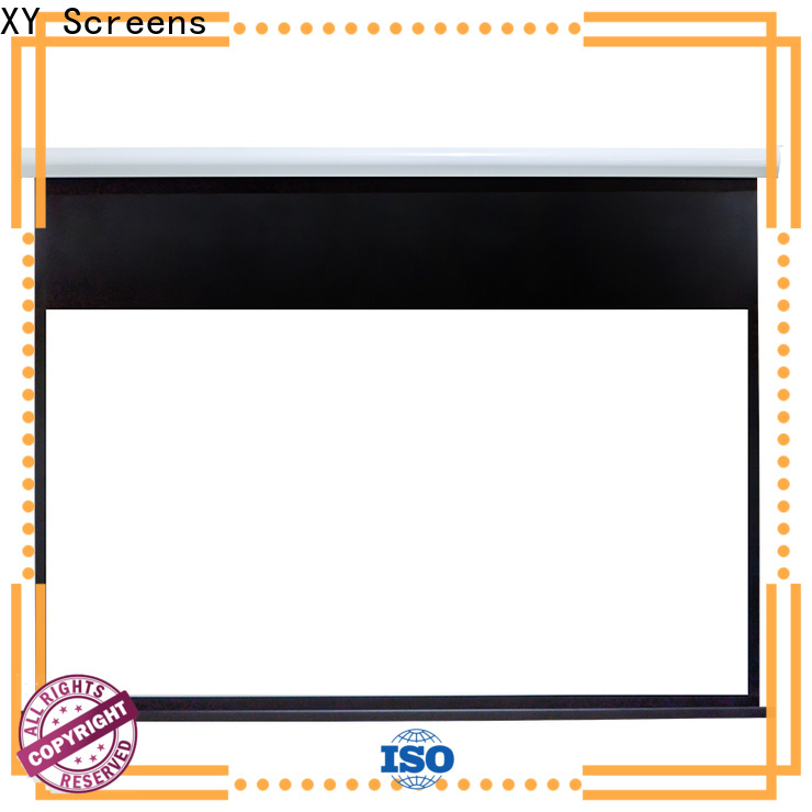 curved motorized projector screen factory price for theater