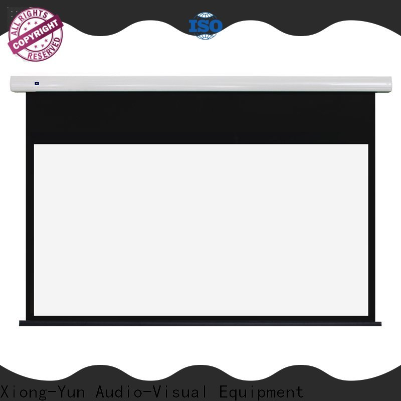 XY Screens tab tensioned projector screen personalized for household