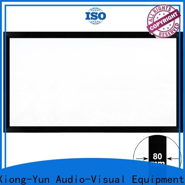 thin home theater projector screen personalized for meeting room
