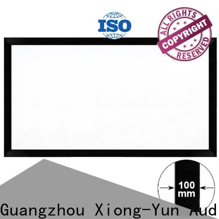 XY Screens retractable projector screen price directly sale for indoors