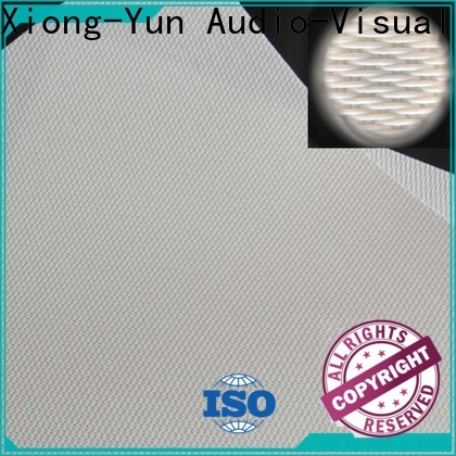 XY Screens metallic acoustically transparent screen material from China for motorized projection screen