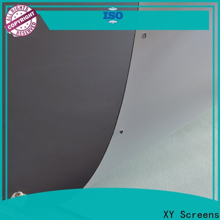 XY Screens hard screen projector screen fabric china design for motorized projection screen