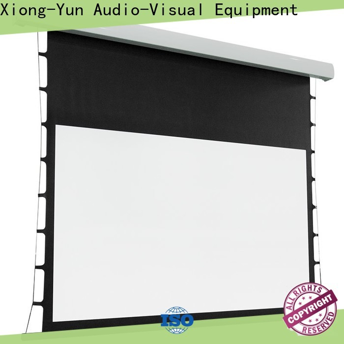 XY Screens tab tension screen personalized for living room