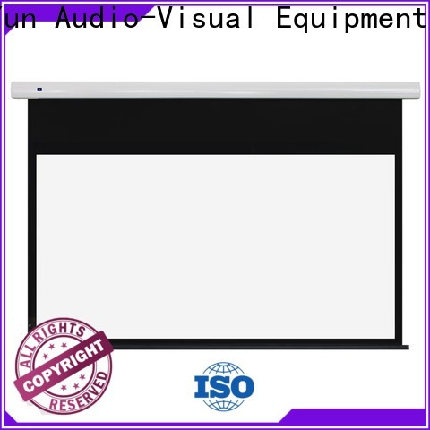 white Motorized Projection Screen inquire now for living room