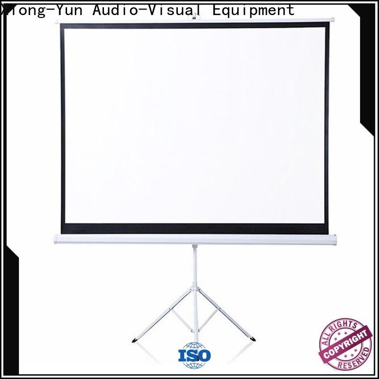 XY Screens portable tripod projector screen factory price for office