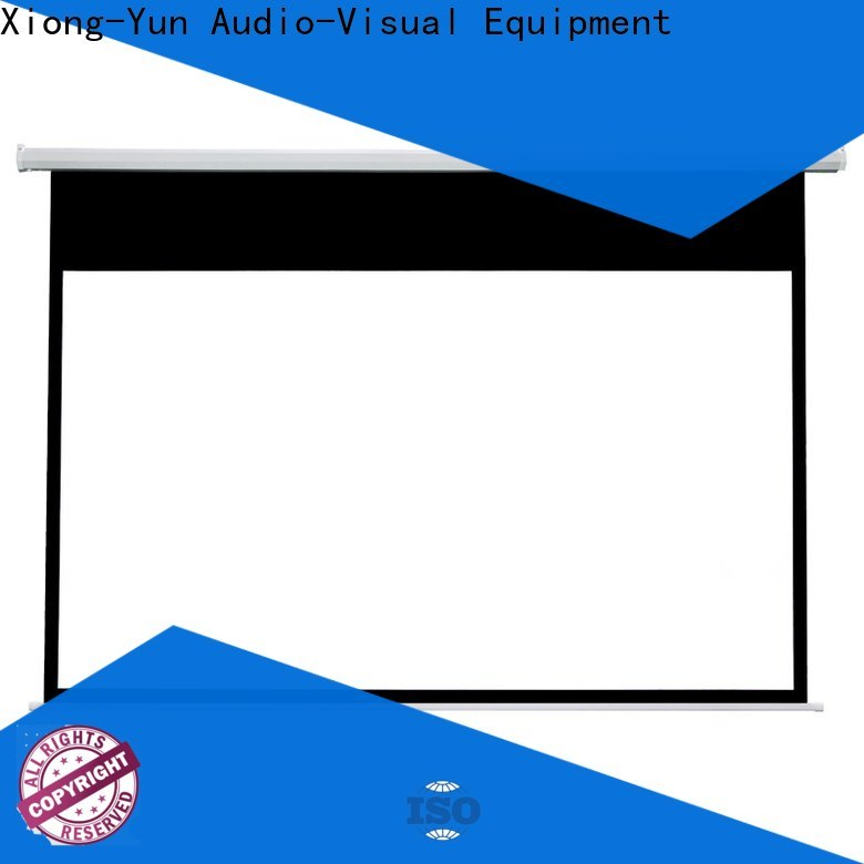 XY Screens intelligent motorized projector screen supplier for home