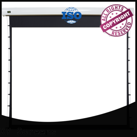XY Screens retractable motorized projector screen factory price for indoors