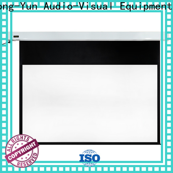 XY Screens motorized projector screen personalized for indoors