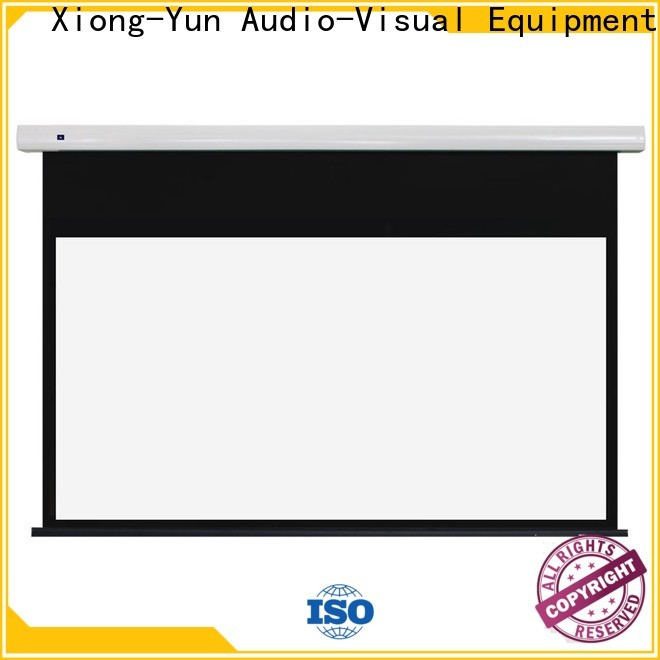 curved motorised projector screen factory price for indoors
