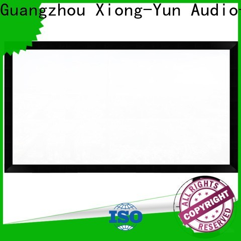 XY Screens retractable projector screen price directly sale for home