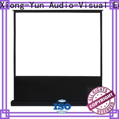 XY Screens white portable pull up projector screen factory for living room