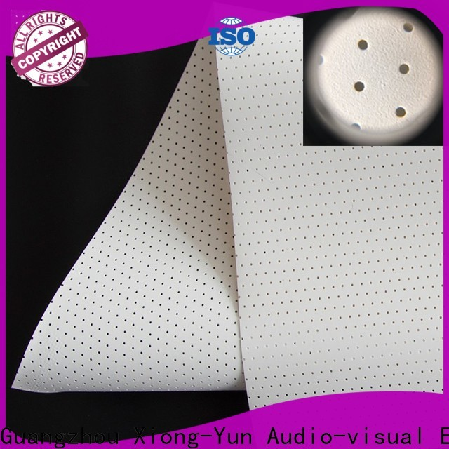perforating acoustic screen material manufacturer for thin frame projector screen