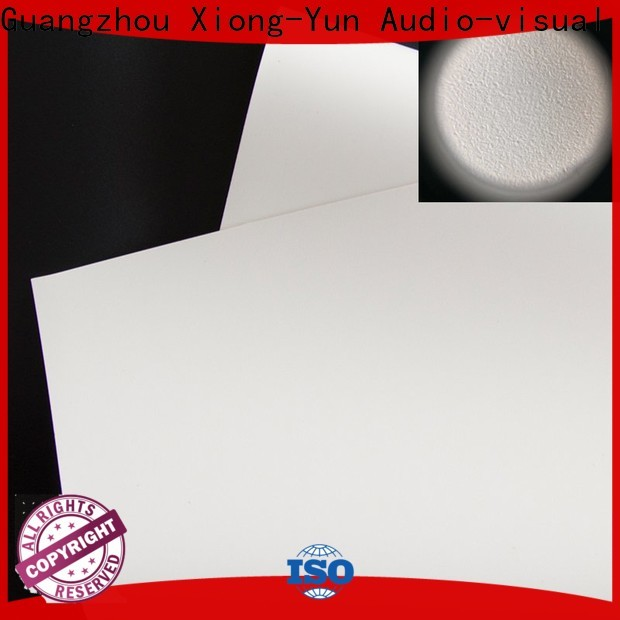 XY Screens durable front and rear fabric factory for projector screen