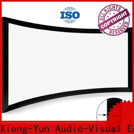 XY Screens thin home cinema projector customized for indoors