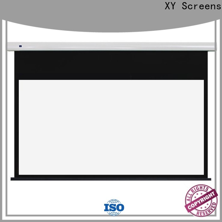 motorized projection screen manufacturer with good price for living room