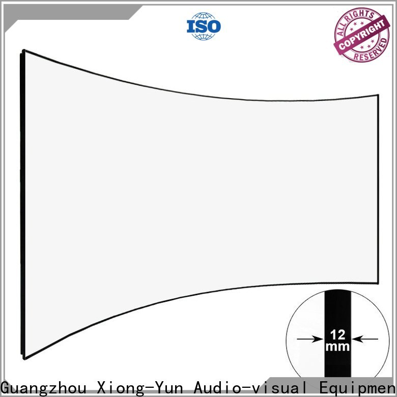 XY Screens curved home theater screen personalized for household