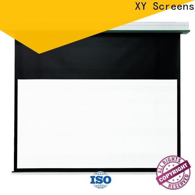 coated fixed projector screen with good price for living room