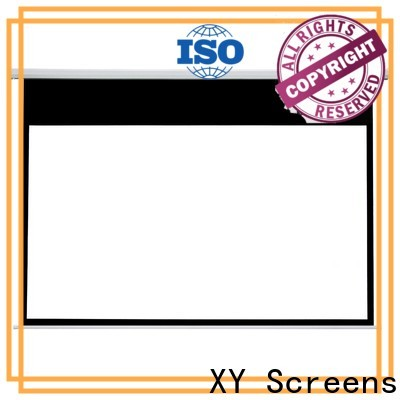 retractable motorized projector screen factory price for indoors