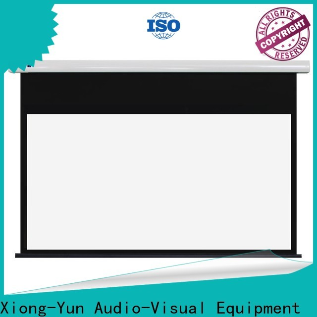 XY Screens coated Home theater projection screen factory for home