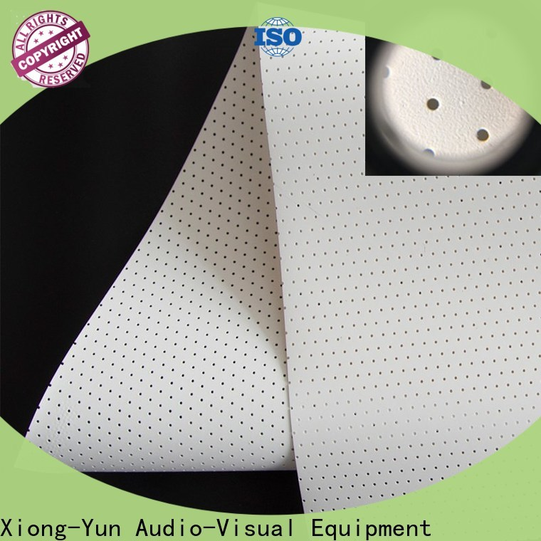 XY Screens acoustically acoustic absorbing fabric manufacturer for motorized projection screen