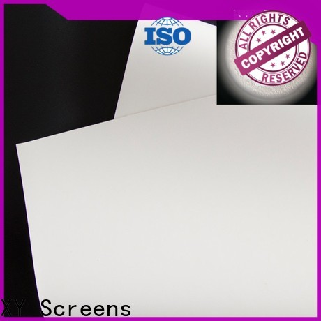 XY Screens projector fabric design for thin frame projector screen