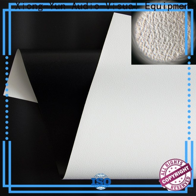 XY Screens metallic front and rear fabric design for motorized projection screen