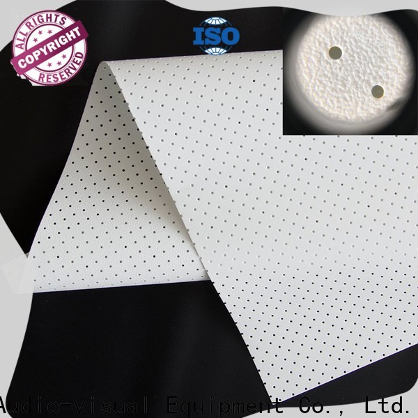 metallic acoustically transparent screen fabric series for thin frame projector screen