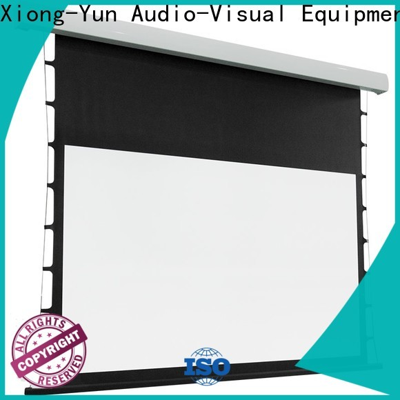 XY Screens manual tab tensioned projector screen factory price for home