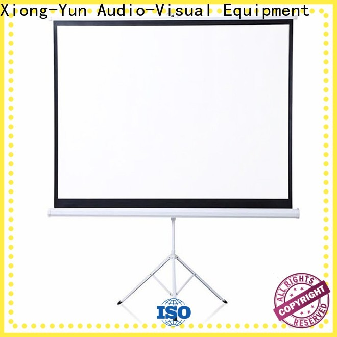XY Screens tripod screen personalized for meeting room