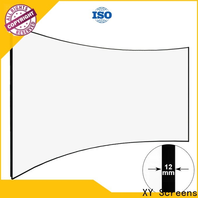 XY Screens mini curved projector screen supplier for household