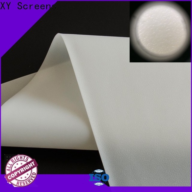 XY Screens hard Rear Fabrics with good price for fixed frame projection screen
