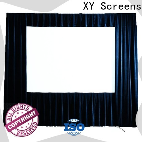 XY Screens fast folding outdoor pull down projector screen factory price for outdoor
