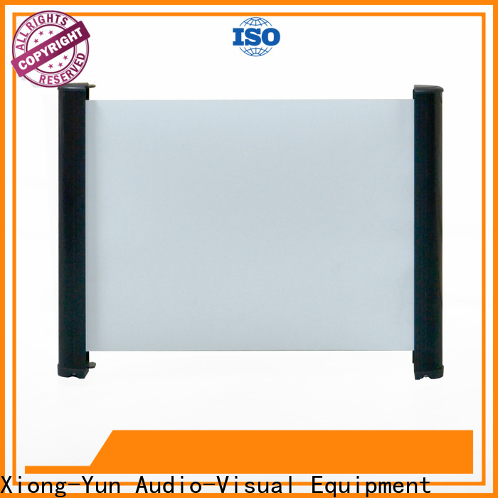 XY Screens retractable tabletop projector screens factory price for household