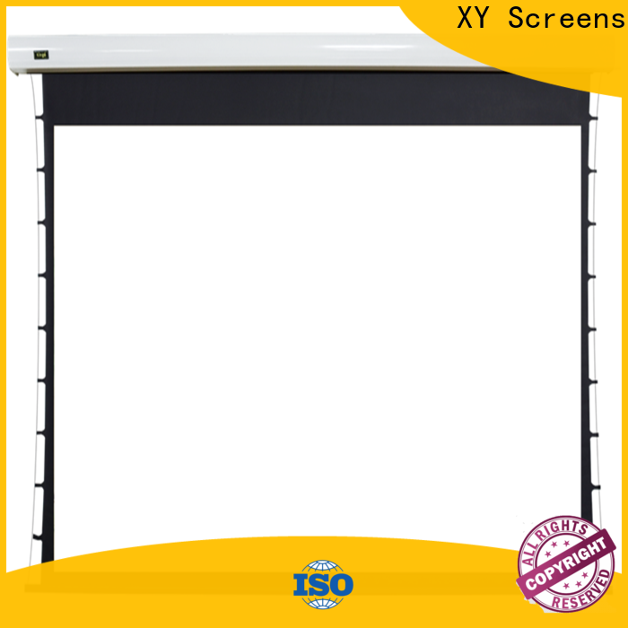 retractable motorized projector screen supplier for home