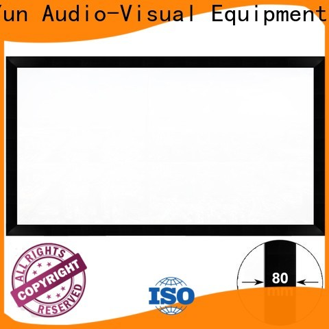 XY Screens curved movie projector screen supplier for theater