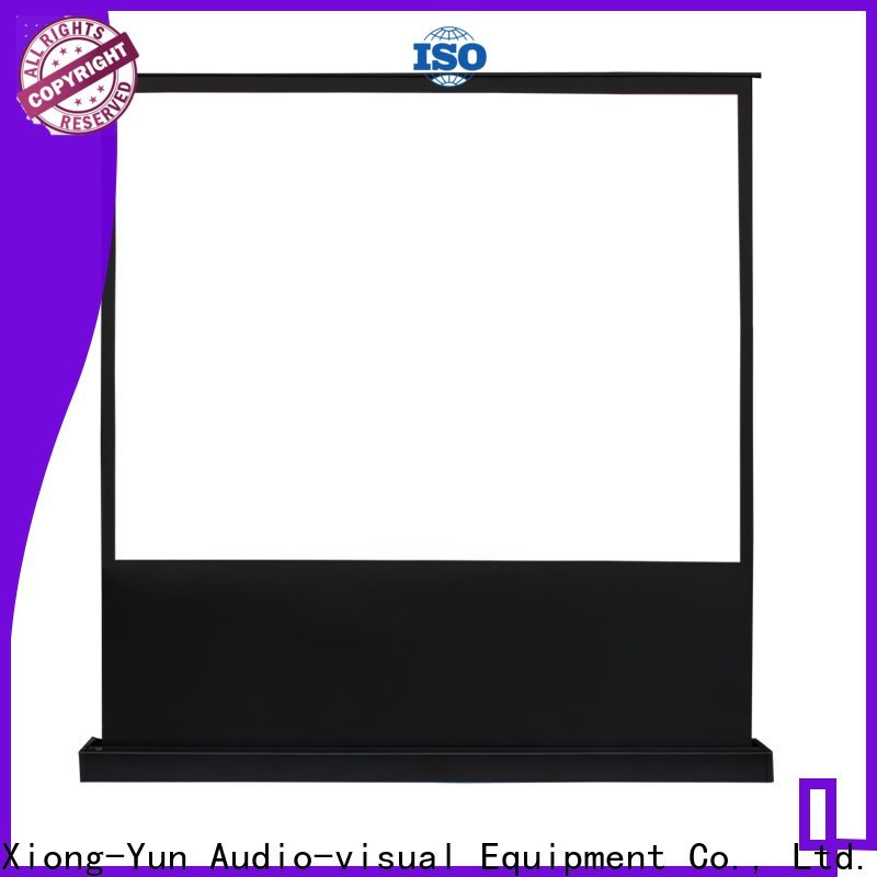 XY Screens portable pull up projector screen design for indoors