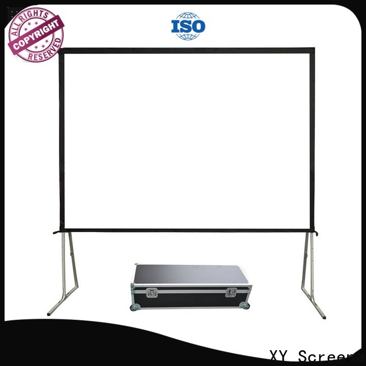 XY Screens curved outdoor video projector personalized for public